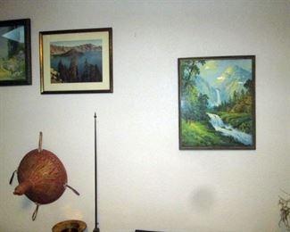 Kitchen Area: R Atkinson Fox framed prints