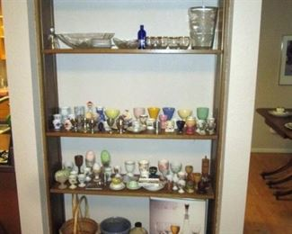 Kitchen Area:  Large collection of Egg cups, And Other Stuff
