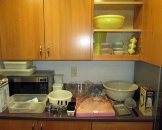 Kitchen Area:  Vintage Tupperware