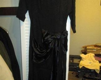 Hall Closet:  Vintage Dress Black