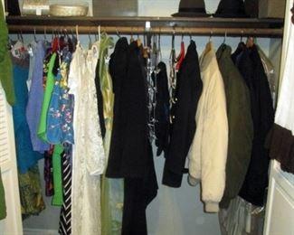 Hall Closet:  Coats (Ladies & Men's), Dresses, Suits