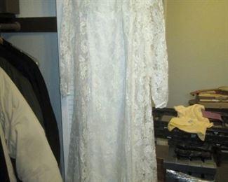Hall Closet:  Vintage Dress White Lace