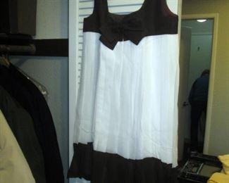 Hall Closet:  Vintage Dress White/Black