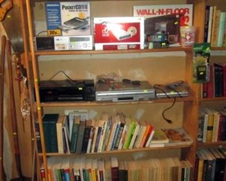 Garage:  Turn Table, CD Drives, VHS Player, Cassette Player, CD Player