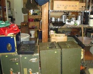 Garage:  More Trunks