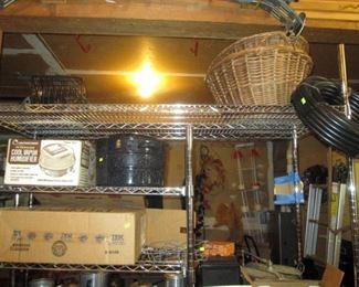 Garage:  Baskets, Tubing, Pot