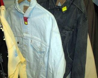 Front Hall Closet:  Jackets (Levis, Eddie Bauer)