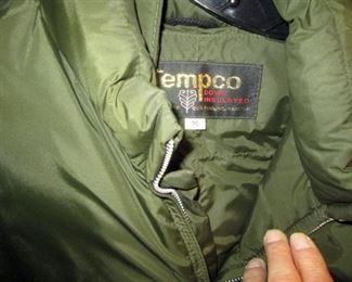 Front Hall Closet:  Jackets (Tempco, Levis, Eddie Bauer)