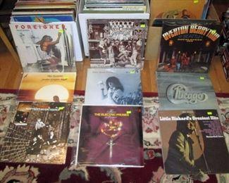 Kitchen Area:  Vintage LP's