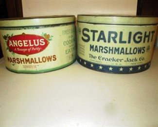 Living Room:  2 Marshmallow Tins (Angelus & Starlight)