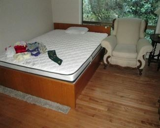 Dining Room:  Queen Bed (Mattress), Matching Chair to Couch.