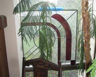 Living Room:  Stainglass Window