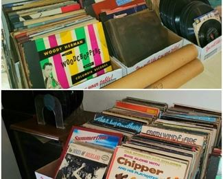 HUGE COLLECTION of records/vinyl albums