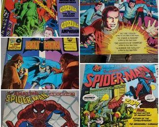 Comic records/albums/lps. Spidermn, Batman, Star Trek, Godzilla. Excellent condition! Bat Man includes full comic book foldout.