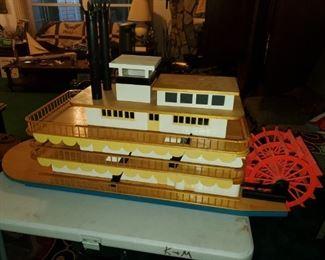 Paddle river boat model ship by Mr Kenneth Floyd