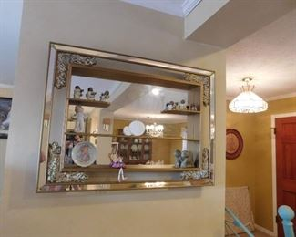 Vintage shadow box mirror