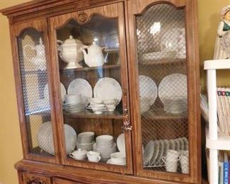 China Cabinet, China, White Ironstone