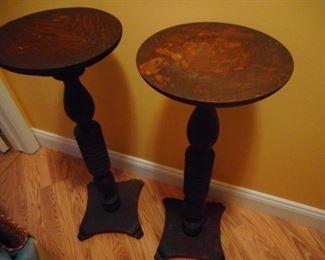 Antique Fern Pedestals