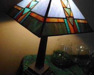 Frank Lloyd Wright Style, Acrylic Table Lamp