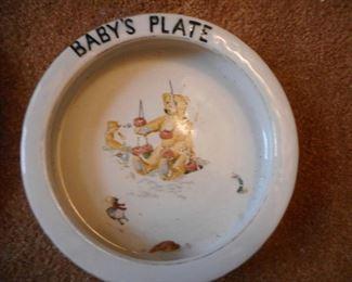 Roseville UNMARKED Babys Plate