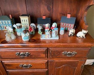 Vintage Salt Pepper Shakers. Hand Painted Banks
