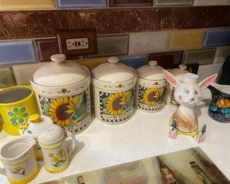 Sunflower Canisters