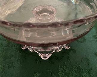 Cowboy Glass. Sun Glass. Amethyst Centerpiece