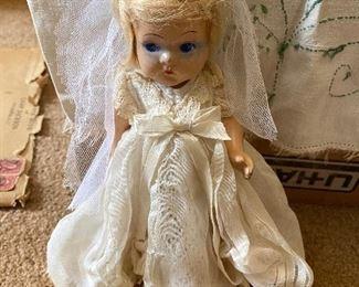"Vintage Vogue ""Toodles"" Doll. 1st Composition Vogue Doll. Vogue Tagged Dress."