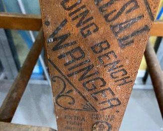 Antique Stamp  Oblong Bench Wringer