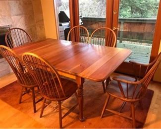 Borkholder Amish Dining Table with 6 Chairs