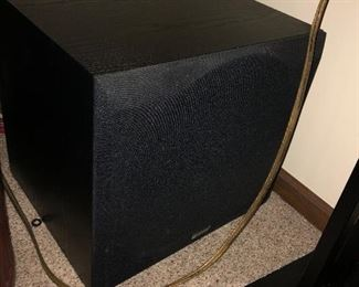 Home Theater System: Energy RVS CE 009609 Includes 150 watt Amp, Sub woofer, and 6 speakers pictured