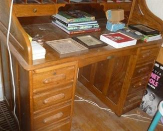 Great size old roll-top desk