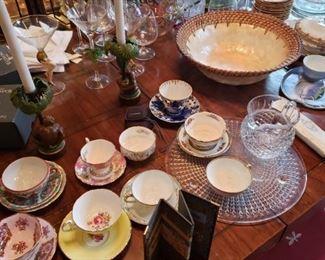 china, tea sets, crystal