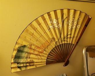 oriental fan wall decor
