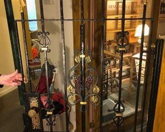 Wrought iron door for wine cellar (original cost $2000)