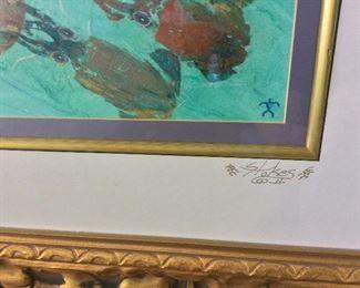 """Jason Stokes, """"Dolphin Run"""", 67"""" x 48""""."""
