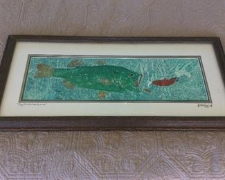 """ Big Mouth Lure"" by Jason Stokes, Signed, 31"" x 14 1/2""."