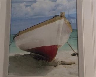 "Boat on the Sand, Unsigned, 17 1/2"" x 21 1/2""."