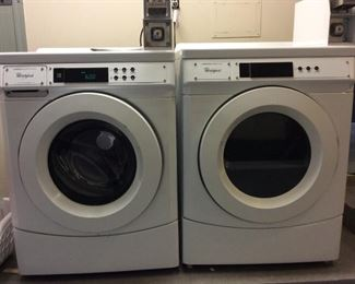 Whirlpool Commercial Duty Washer and Dryer.