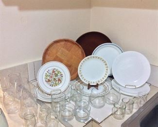 Large Selection of Dishes and Glassware.