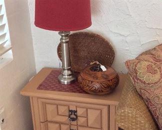 Side Table and Table Lamp.