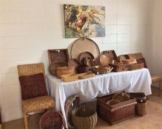 Large Selection of Baskets.