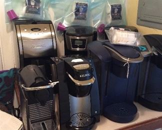 Small Kitchen Appliances. Selection of Coffee Makers.