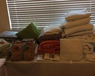 Large Selection of Linens.