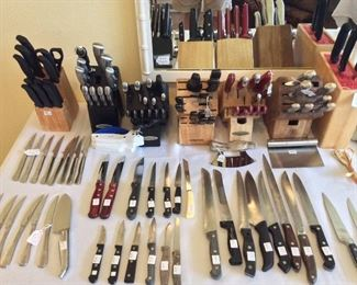 Large Assortment of Cutlery.