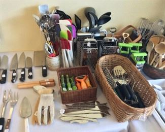 Large Selection of Cutlery and Kitchen Utensils.