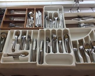 Large Selection of Flatware.