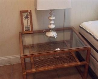 Bed Side Table and Lamp.