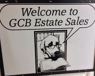 Welcome to GCB Estate Sales. We look forward to seeing you at the sale!