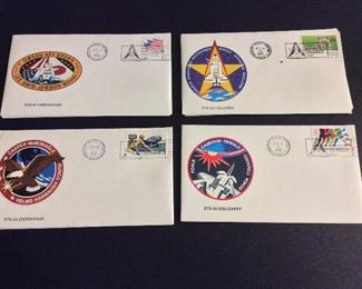 NASA Space Shuttle Mission Launch Covers.